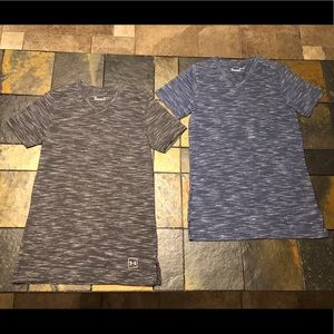 TWO Under Armour fitted women's tees size S